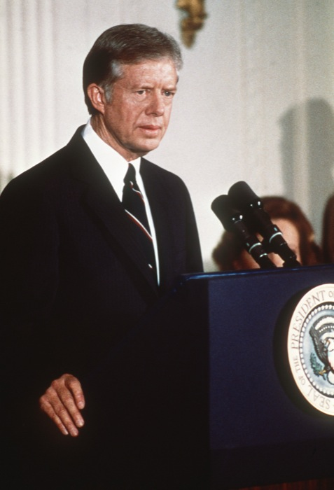 Photo taken 12 May 1979 of President Jimmy Carter